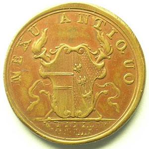 Médaille de Mariage avec Marie-Anne   bronze   28mm   1744    TTB+