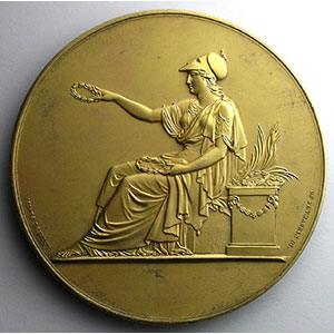 Médaille en argent  68mm   Prix Juvenal Dessaigne   Daniel Bellet, Les Grandes Antilles    SUP/FDC