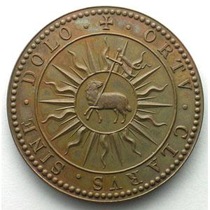 Médaille en bronze   39,5mm   refrappe moderne XX° s.    SUP
