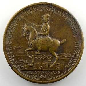 Médaille en bronze  48mm   Bataille de Rossbach   5 novembre 1757    TTB