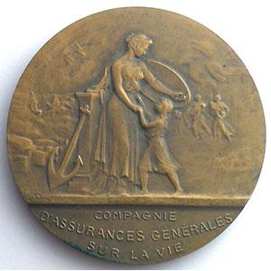Médaille en bronze  50mm   1919    SUP