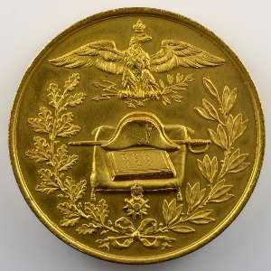 Médaille en bronze doré  50mm   Centenaire de l'Empereur  1769-1869    SUP/FDC