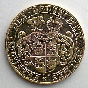 Médaille en or   Paul von Hindenburg, Präsident des Deutschen Reiches   1928    SUP