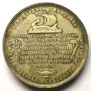 Médaille ronde en argent   45 mm   1850    FDC