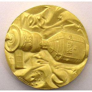 Médaille soviétique   Projet test Apollo-Soyouz   1975   32mm    FDC