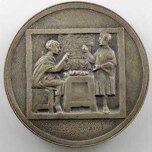 Metz   Médaille en bronze argenté   50mm    SUP