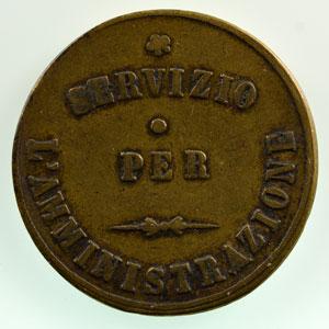 Milan (Italie)   Societa anonima degli omnibus di Milano   jeton en laiton  23mm    TTB