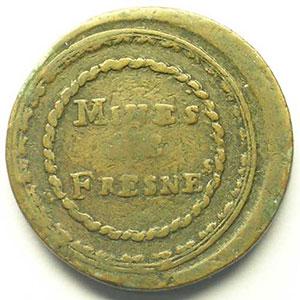 Mines de Fresnes   Cu, R  31mm    TB