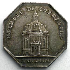 Montpellier   jeton octogonal en argent    SUP