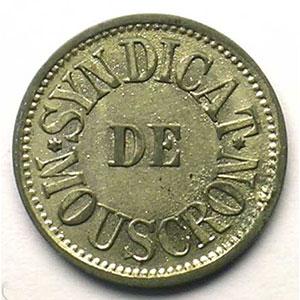 Mouscron   Syndicat de Mouscron   10 (c)   ZnNi, R   17,5mm    TTB