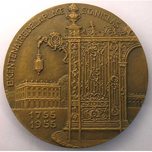 MULLER   Bicentenaire de la Place Stanislas   1755-1955    FDC