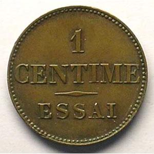 ND(1843-46)   Essai de Barre   poids réduit 1,01 g    TTB+