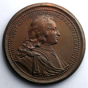 Nicolas d'Anjou  2° type   bronze   46 mm    TB+/TTB