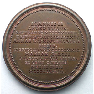 Nicolas d'Anjou   bronze   47,5 mm    SUP