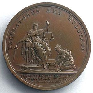 non signée/Duvivier   Révocation de la Chambre de Justice   bronze   41mm    SUP