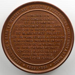 OUDINE   Médaille en cuivre   51mm   Napoléon III   1859-1864    FDC