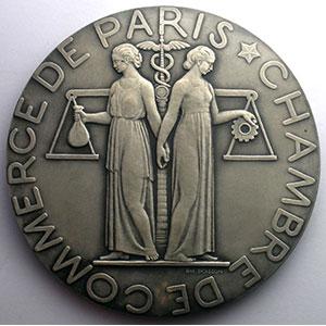 Paris   Médaille en argent   75mm   1952    SUP/FDC