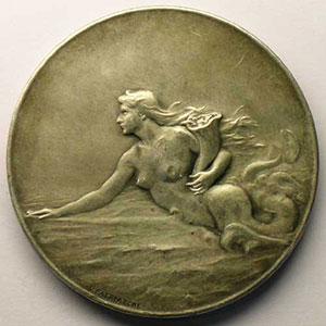 PATRIARCHE   Cie Gle Transatlantique   bronze argenté   42mm    SUP