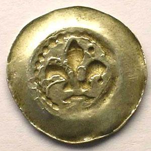 Pfennig au Lys   14° siècle    TTB+
