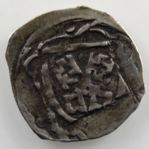 Pfennig   Johann I von Moosburg (1384-1409)    TTB