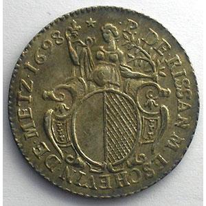 Pierre de Rissan   (1692-1712)   1698   argent    TTB+/SUP