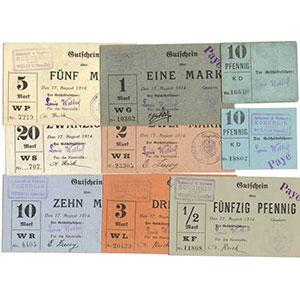 Pirot 68-408 à 415   Série de 9 billets    1 ex. TTB - 8 ex. NEUF