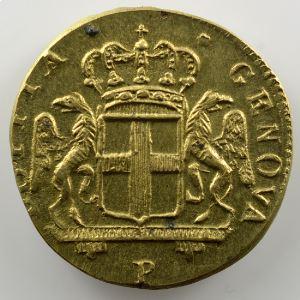 Poids monétaire du 24 Lires de Gênes   lettre P à l'avers    SUP