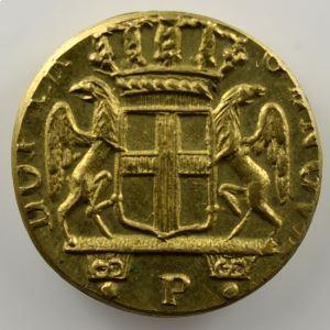 Poids monétaire du 24 Lires de Gênes   lettre P entre 2 points à l'avers    SUP