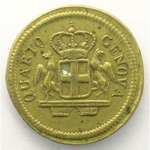 Poids monétaire du 24 Lires de Gênes    TTB+