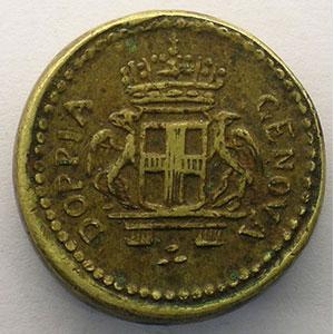 Poids monétaire du 96 Lires de Gênes    TTB