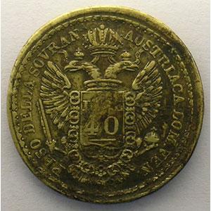 Poids monétaire du Souverain (40 lires autrichiennes) de Venise    TTB