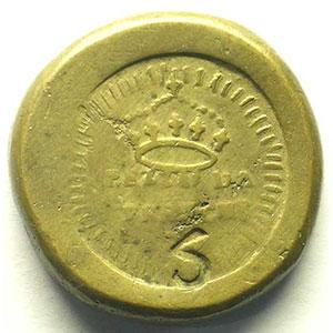 Poids monétaire italien de la pièce de 5 Francs    TB+