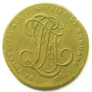 Projet de flan pour le sou   1790    TTB