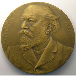 Prudhomme G.   Médaille en bronze   63mm   Maurice Faure   1906    SUP