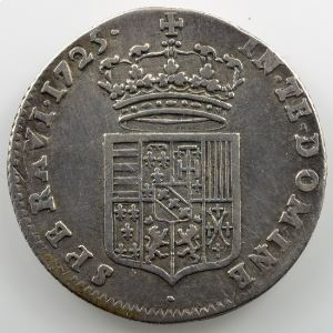 Quart de Léopold d'argent   1725    TB+