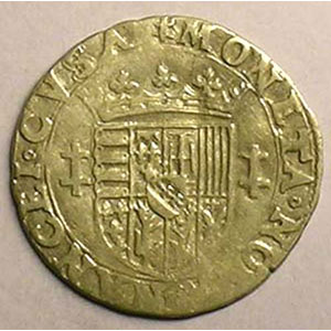 Quart de teston au buste viril  B (Briseur 1564-1574)    TB/TB+