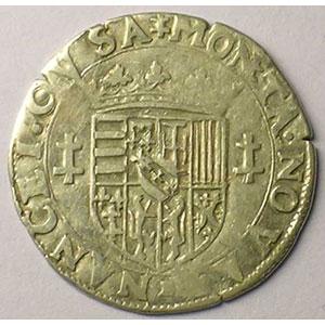 Quart de teston au buste viril  B (Briseur 1564-1574)    TB+/TTB