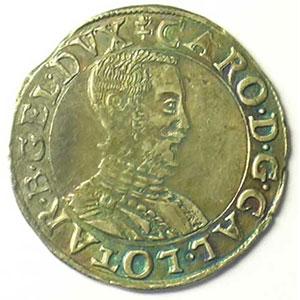 Quart de teston au buste viril  B (Briseur 1564-1574)    TTB