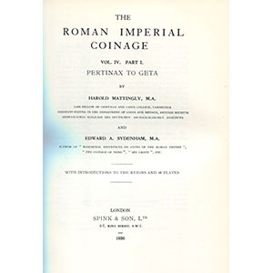 R.I.C.   vol. IV   Pertinax à Uranus Antonin (193-254)