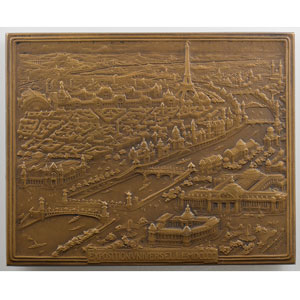 Roiné Jules-Edouard   (1900)   Plaque rectangulaire en bronze  55x68mm   exemplaire numéroté 267 de la SAMF    FDC