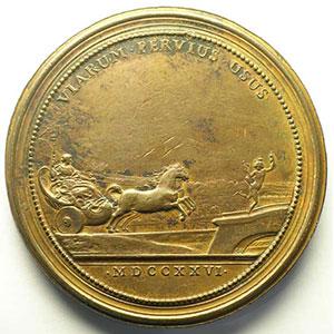 Saint-Urbain   Grands Travaux pour les Ponts et Chaussées   1726   bronze   60mm    TTB