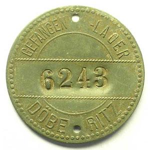 Sans valeur   zinc, 27mm, uniface   n°6243    TTB