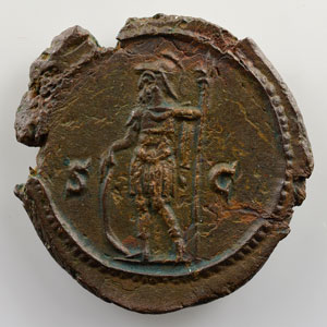 Semis de bronze   21mm   R/ SC  (Rome 250)    SUP