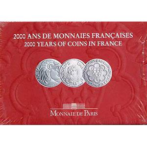 Série France 2000   3 pièces de 5 francs tome I   Parisii, Saint-Louis, Charlemagne