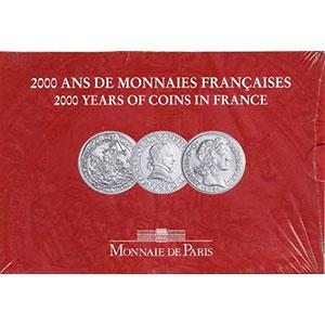 Série France 2000   3 pièces de 5 francs tome II   Henri III, Jean le Bon, Louis XIII