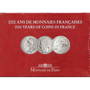 Série France 2000   3 pièces de 5 francs tome III   Lagriffoul, Chaplain, Liberté