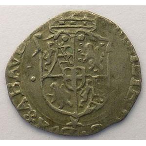 Soldo   Emmanuel Philibert  (1553-1580)   1574 ED étoile  (Chambéry)    TB