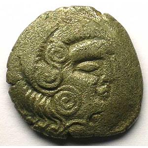 Statère de billon au nez droit   1er siècle av. J.C.    TB+