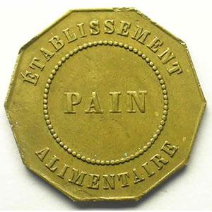Sté anonyme des Houillères & du Chn de Fer   Etablissement Alimentaire   PAIN   Lt, 10   25mm    TTB