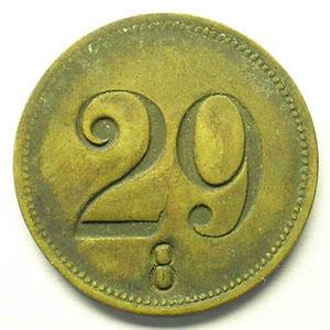SVI   Lt, R   27,5mm    numéroté 29    TTB